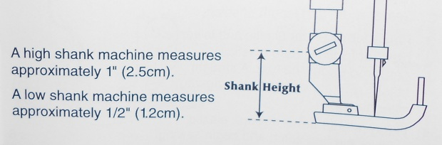 Sewing Machine Shank Height