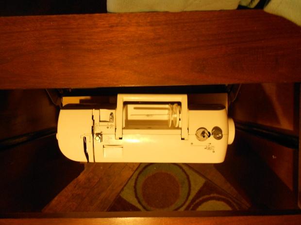 Machine inside cabinet